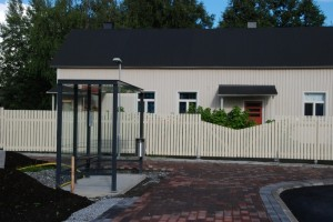 Kesällä 2013 valmistunut uusi bussipysäkki rautatieasemalla