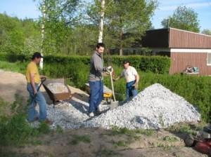 Työt alkoivat maamassojen levittämisellä
